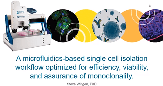Microfluidics Based Single Cell Isolation Workflow for Assurance of Monoclonality